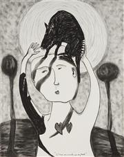 Sale 8867 - Lot 526 - Ivan Hegyi - I have an animal on my head 102 x 79.5 cm