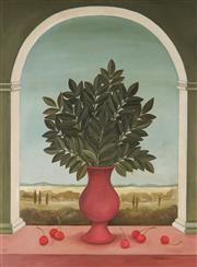Sale 8881 - Lot 512 - Frances Jones (1923 - 1999) - Cherries and Leaves 59.5 x 44.5 cm
