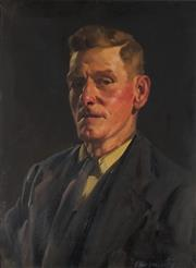 Sale 8929 - Lot 552 - Ernest Buckmaster (1897 - 1968) - Portrait of a Gentleman 61 x 46 cm
