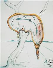 Sale 8985A - Lot 5023 - Salvador Dali (1904 - 1989) - Tearful Soft Watch 66 x 51 cm (frame: 104 x 87 x 3 cm)
