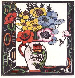 Sale 9096A - Lot 5068 - Margaret Preston (1875 - 1963) - Anemones 33 x 31 cm (frame: 67 x 57 x 3 cm)