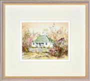Sale 8349A - Lot 130 - Essie Nangle (1915 - 2006) - Heritage Cottage Braidwood 19.5 x 24.5cm