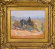 Sale 8358 - Lot 591 - Robert Johnson (1890 - 1964) - Carlingford from Pennant Hills, 1924 29.5 x 36cm