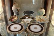 Sale 8369 - Lot 98 - Spode Velamour Vase with Other Ceramics Incl. Gilt Paragon Wares