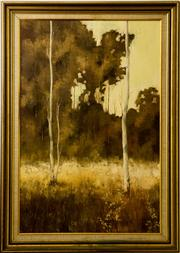 Sale 8418A - Lot 15 - Peter Fennel, 1978 - Ghost Gums 90 x 59cm