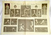 Sale 8460C - Lot 52 - Sydney Mail double page, Wednesday December 11, 1929 showing Australian cricketers, small amount of spoiling. Very good.