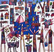 Sale 8609A - Lot 5022 - Bruce Earles (1961 - ) - Panic Party 112 x 117cm