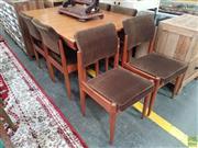 Sale 8601 - Lot 1283 - Vintage Parker Seven Piece Dining Suite