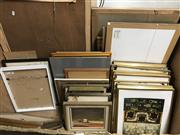 Sale 8797 - Lot 2090 - Box of Assorted Paintings and Decorative Prints, box not included