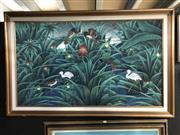Sale 8797 - Lot 2068 - Asian School - Birds in Bush, 74x128