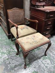 Sale 8822 - Lot 1853 - Bridge Chair and Footstool