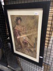 Sale 8924 - Lot 2046 - Artist Unknown - Male Study, Oil