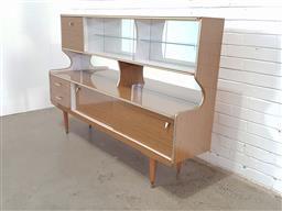 Sale 9157 - Lot 1042 - Vintage retro sideboard with 4 doors & 2 drawers below (h117 x w182 x d40cm)