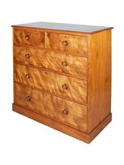Sale 8379A - Lot 58 - A superb quality Victorian satinwood chest, two short drawers above three graduated drawers. Stamped Johnstone & Jeanes 67 New Bond...