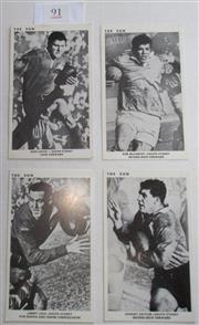 Sale 8404S - Lot 91 - Souths The Sun Footy Cards 1967 – Ron Coote, Bob McCarthy, Jimmy Lisle, Johnny Sattler