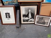 Sale 8491 - Lot 2006 - Group of (4) Assorted Prints incl. handcoloured engraving Captain James Cook (framed/various sizes)