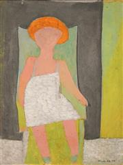Sale 8597 - Lot 561 - Jon Molvig (1923 - 1970) - Untitled, 1952 (Child) 45 x 33.5cm