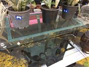 Sale 8601 - Lot 1245 - Glass Top Outdoor Table