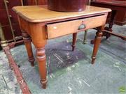 Sale 8617 - Lot 1041 - Small Edwardian Kauri Pine Desk, with single drawer & turned legs