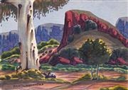 Sale 8633 - Lot 509 - Kevin Namatjira (1958 - ) - MacDonnell Ranges 24.5 x 35cm