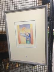 Sale 8716 - Lot 2102 - Artist Unknown - Surrealscape watercolour, 68 x 52cm (frame) signed lower right