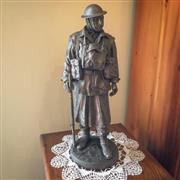 Sale 8878T - Lot 97 - Cold Cast Figure of an Army 2nd AIF Infantry Sergeant Numbered 573/2000Height - 31.5cm