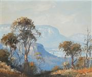 Sale 8929 - Lot 562 - Leon Hanson (1918 - 2011) - Blue Mountains, Near Blackheath, NSW 49.5 x 59.5 cm