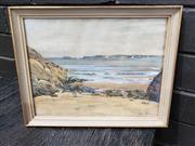 Sale 8961 - Lot 2078 - P. A. Travers Smith Carbis Bay, St Ives 1936 watercolour, 25 x 31cm (frame), signed and dated lower right