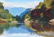 Sale 9038 - Lot 513 - Robyn Collier (1949 - ) - The Shoalhaven 40 x 59.5 cm (frame: 60 x 79 x 4 cm)