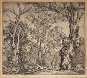 Sale 9055A - Lot 5062 - Alfred (Ernest) Warner (1879 - 1968) - Boundary Rider 18 x 20.5 cm (frame: 30 x 32 x 2 cm)
