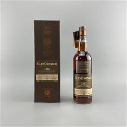 Sale 9142W - Lot 1043 - 1993 The Glendronach Distillery Cask Bottling 26YO Highland Single Malt Scotch Whisky - distilled 12/02/1993, bottled 2019, bottle...