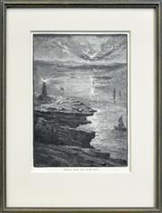 Sale 8330A - Lot 88 - T. S. Payley - Sydney, From the South Head 20 x 14cm