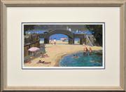 Sale 8286 - Lot 504 - Doris Kaminski (XX) - Balmoral Bridge 20.5 x 38.5cm