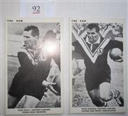 Sale 8404S - Lot 92 - Wests The Sun Footy Cards 1967 – Noel Kelly, Peter Dimond
