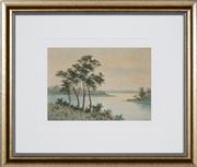 Sale 8433 - Lot 2017 - James Ashton (1859 - 1935) - Birds Over the River 25 x 35cm