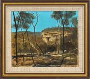 Sale 8443 - Lot 546 - Ray Crooke (1922 - 2015) - The Escarpment 24.5 x 30cm
