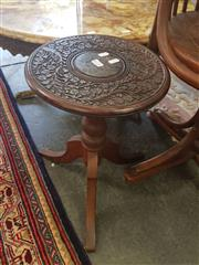 Sale 8676 - Lot 1175 - Small Carved Wine Table