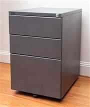 Sale 8694A - Lot 17 - A Godfrey gun metal grey three drawer filer