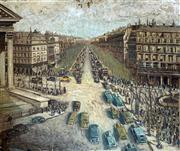 Sale 8808A - Lot 5018 - Gustav Pillig (1877 - 1956) - European Street Scene 63.5 x 75.5cm