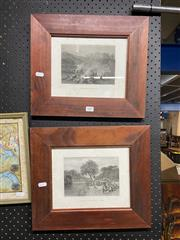 Sale 8914 - Lot 2087 - 2 Works: Skinner Prout, Night Scene in the Diggings & Diggers on the Road to a Rush, Engravings