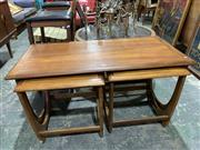 Sale 9002 - Lot 1083 - G-Plan Teak Nest of Tables (h:50 x w:100 x d:50cm)