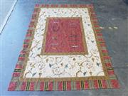 Sale 9031 - Lot 1076 - French Style Arabesque Tapestry, with floating motifs on a red field & cream scroll pattern border, by Basetti Italy, for Parterre (...