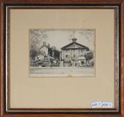 Sale 9053 - Lot 2088 - George Marler (1879 - 1960) Arbitration Court, c1920s etching (AF- minor foxing) 27 x 29cm (frame) -