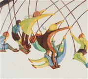 Sale 9042A - Lot 5053 - Ethel Spowers (1890 - 1947) - Swings 33 x 36 cm (frame: 67 x 67 x 3 cm)