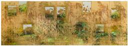 Sale 9256H - Lot 59 - Fortune Art Studio - Harvest 7 panels, each panel 152cm x 61cm