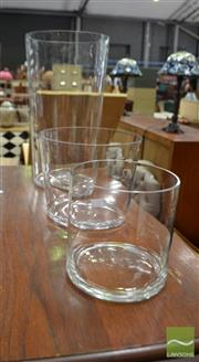 Sale 8480 - Lot 1127 - Set of Three Graduating Glass Vases