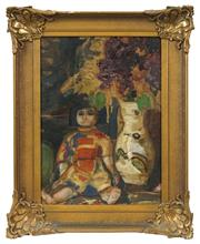 Sale 8522 - Lot 2011 - Artist Unknown (20th Century) - Still Life - Japonisme 44 x 30cm