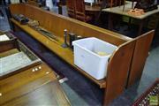 Sale 8542 - Lot 1053 - Pair of Timber Church Pews