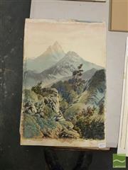 Sale 8552 - Lot 2077 - Thomas Peerless (1884 - 1899) - New Zealand Highlands 48 x 33cm