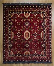 Sale 8566C - Lot 81 - Afghan Kargahi 184cm x 160cm